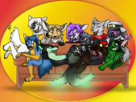 Party with friends ~ Comission for Ratce8386 by RIOPerla