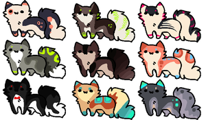 Point Adoptables Set 17 [closed] by RawrsAdopts