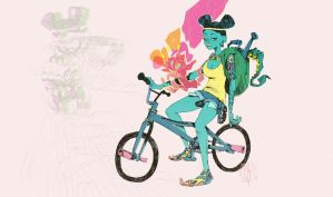 bikes and tattoos by Vamp1r0