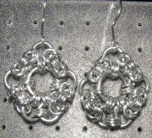 Chainmaille Earring 59 by Des804