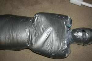 Mummified in duck tape by Cazpoke