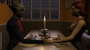 Romantic dinner by BeatrixShepard