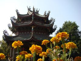 Flowered Temple by Rhimey