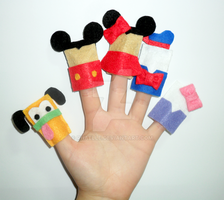Disney Finger Puppets by rhaelle