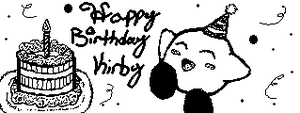 Miiverse Kirby's Birthday by Deviantroid