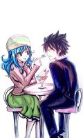 fairy tail : Gruvia date by BakaAden