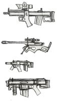 Rough ROUGH Weapon Concepts by ModalMechanica