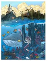 the Mermaids Gift colored by travisJhanson