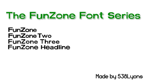 FunZone Font Series by DLEDeviant
