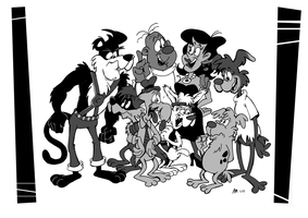 Commission: Clint's Crazy Crew by Granitoons