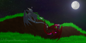 AT: Kiraga and Noiraak by DragonThunderstorm