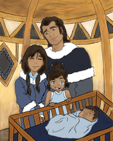 Korra and Family by SuperPositivePerson