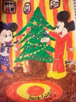 Mickey and Minnie Decorate Their Tree by GothicTaco198