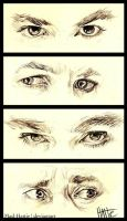 The Hobbit: Eye Studies by Mad-Hattie