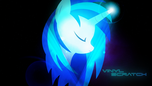 Vinyl Scratch Space-ish-y Wallpaper by OverdrivenZX
