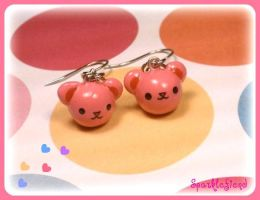Teddy Bear Earrings by Sparklefiend