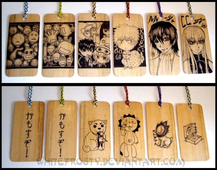 Wooden Bookmarks by whitefrosty