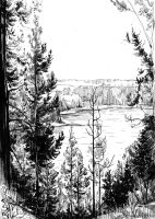 Lake in Karelia by Katerinich