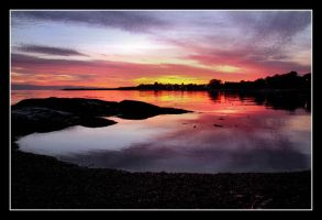 Sunset At BC by 2Stupid2Duck