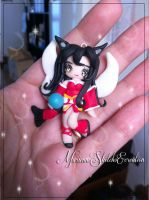 League of legends Pendant  Ahri Polymer Clay by DarkettinaMarienne