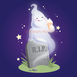 Drawlloween: Ice Cream Ghost by kimchikawaii