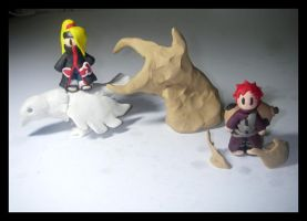 Clay Gaara vs Deidara by kalabasa019