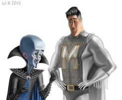 Megamind and Metroman by White-Night-56