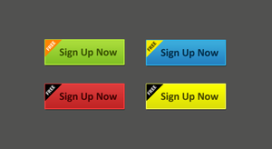 Sign Up Web Buttons - Friday F by terrenceforever