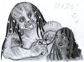 AVP- Lex and Scar -Braids by LadyScale