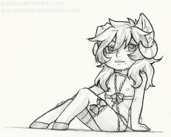 Chibi pencil drawing:  Rosette  [2/5] by Gaz-Monster