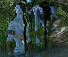 Na'vi Exploring by DrowElfMorwen
