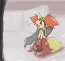 Mawile in Delphox halloween costume