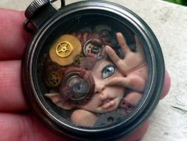 Peeks, Steampunk Pocket Watch Myxie by MysticReflections