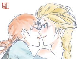 Elsanna Kiss by Potato-Vel