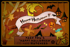 || Pack +600 Watchers: Feliz Halloween || by MochiUsUk