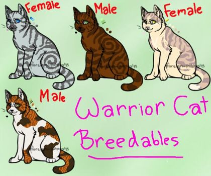 Warrior Cat Breedables by Paradise--Adopts