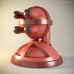 'Robust' robot bust design, model M7-002 by m7