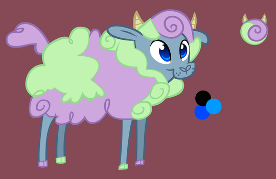 Cotton Candy the Sheep by Brinazzle