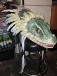 Aeon Calcos Lizardman Finsihed Head Puppet Mask 1 by jaredjlee