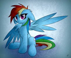 [Just] Rainbow Dash by QueenBloodySky