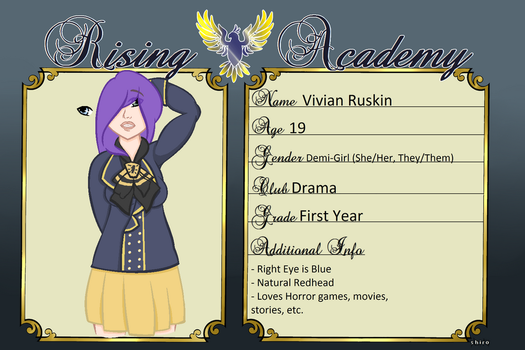 {Rising Academy} Vivian by Hollowolfpup