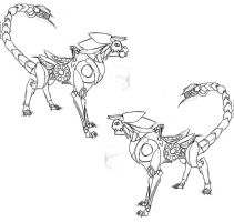 Manticore Mecha WIP (R) by Hills-to-Sky