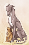 The Hare and The Hound by norochan