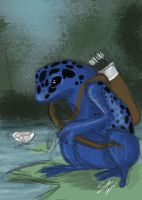 Spitpaint 013: Frog Archer by selkie-gal