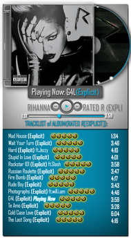 Rihanna - Rated R(Explicit) by Photo7Girl