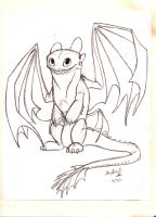 Little Toothless by AmmyWolf95