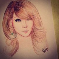 Lee Chae Rin - CL Drawing by Hileeery