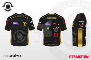 Camiseta x6tence e-sports club by Oizin