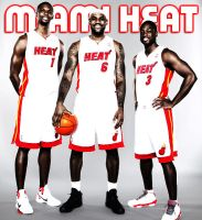 Miami Heat Trio 2 by lukephotoshop