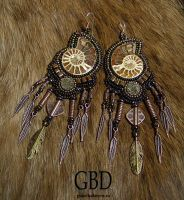 hunter earrings by gbdreams